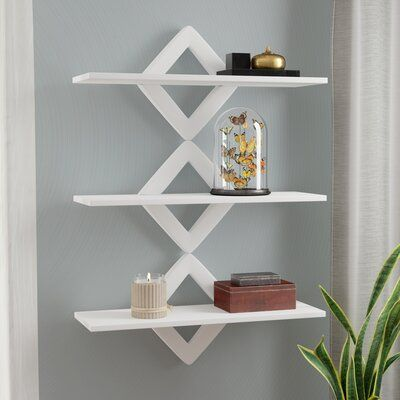 Latitude Run Henstra Diamonds 3 Level System Floating Shelf