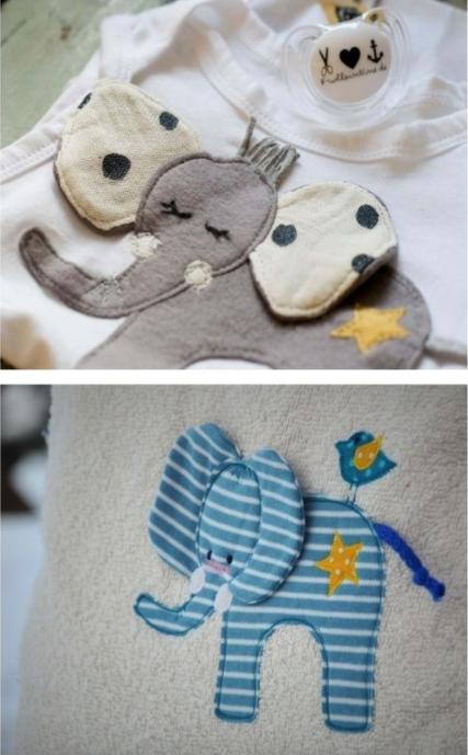 Appliziervorlage Kleiner Elefant Baby Applikationen Applikationsvorlage Elefant Applikation