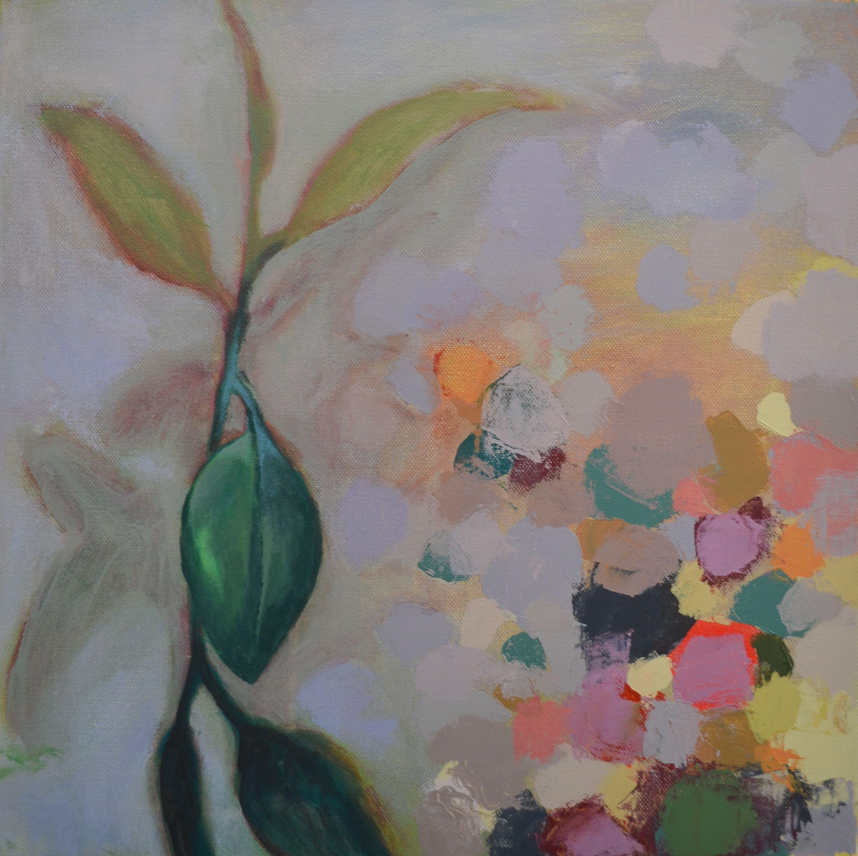 Asetelma, akryylimaalaus sarjasta Maalarin työpäivä, 2012