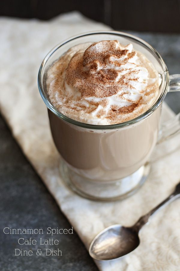 Cinnamon Spiced Cafe Latte by www.dineanddish.net