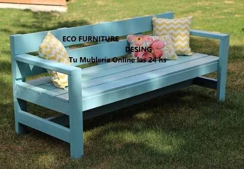 Sillon camastro de jard n rustico estilo campo interior for Sillones de patio de madera