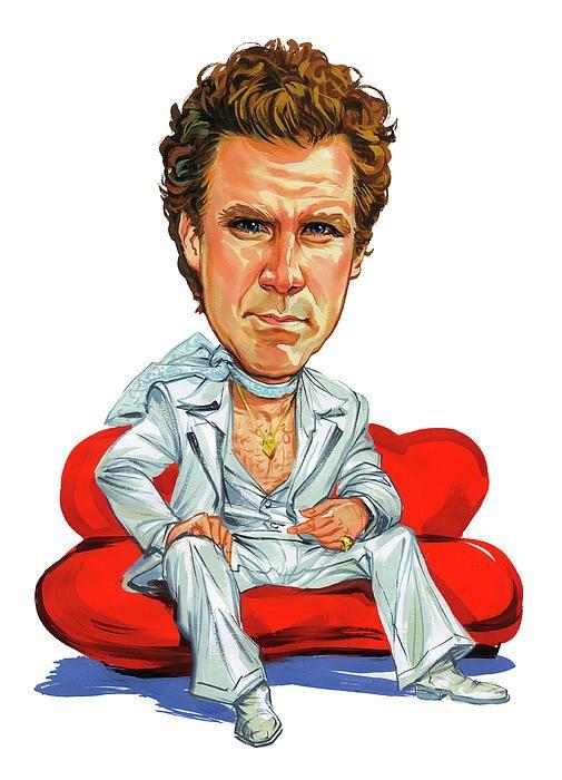 Will Ferrell by Art