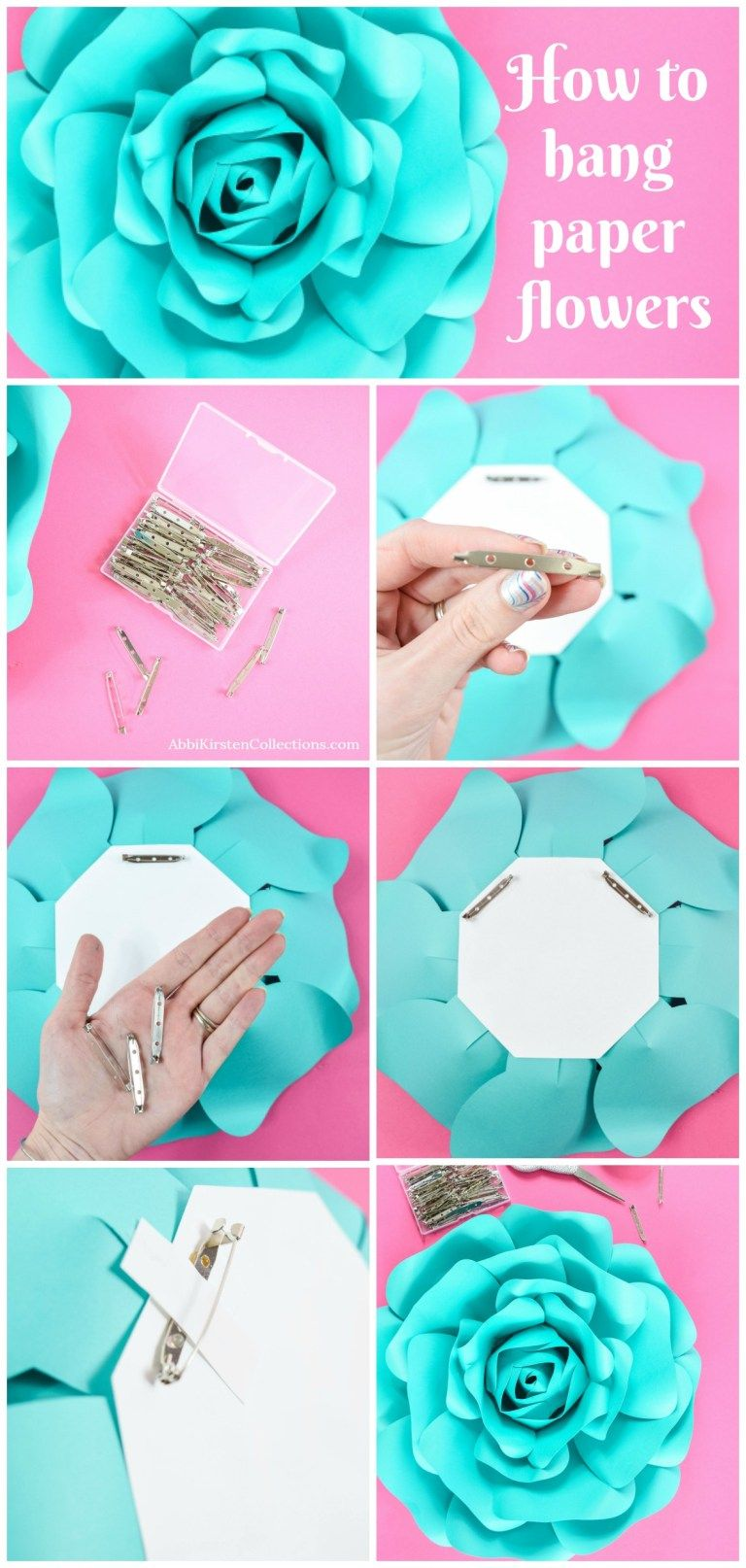 how to hang paper flowers  8 easy ways to hang paper