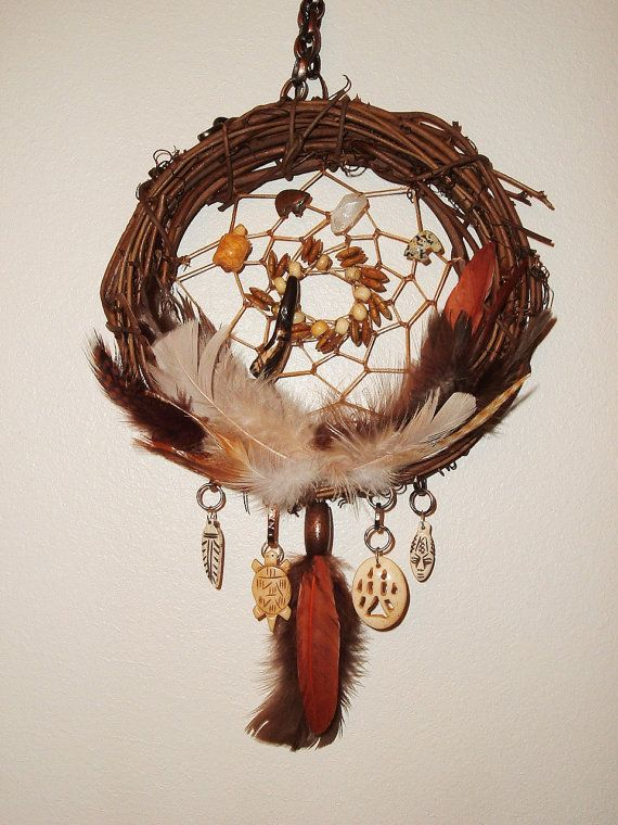 Tribal Native Dream Catcher Twig Ring Bone by extravagantdesigns