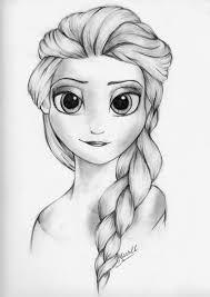 Elsa 1 A Lapiz Dibujos Animados A Lapiz Animes A Lapiz Como Dibujar Cosas