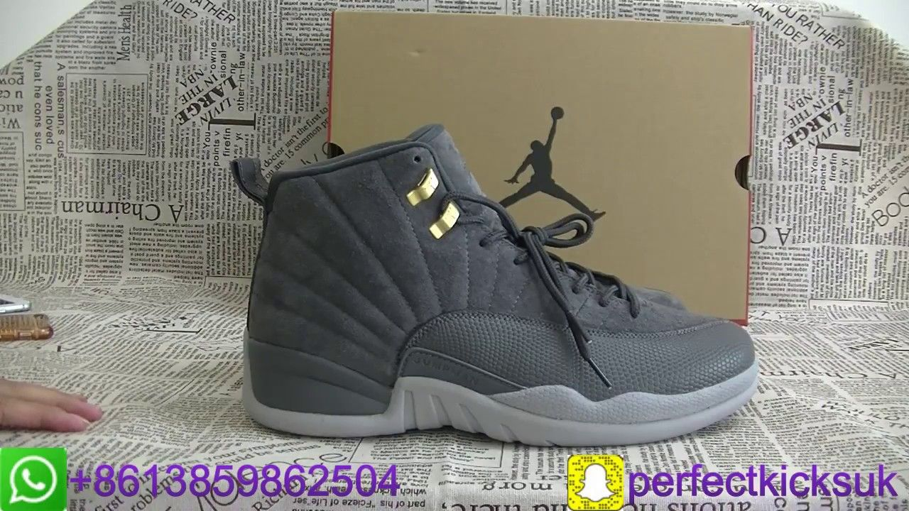 3afc74d07c24a3 Air Jordan 12 Dark Grey Unboxing Review From perfectkicks.uk