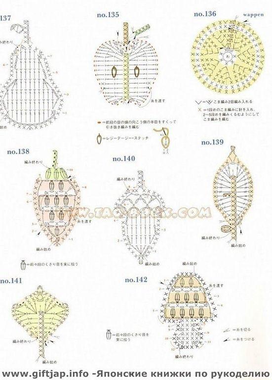 croche-graficos-tejer-crochet-вязанье-szydełkować-häkeln | crochet ...