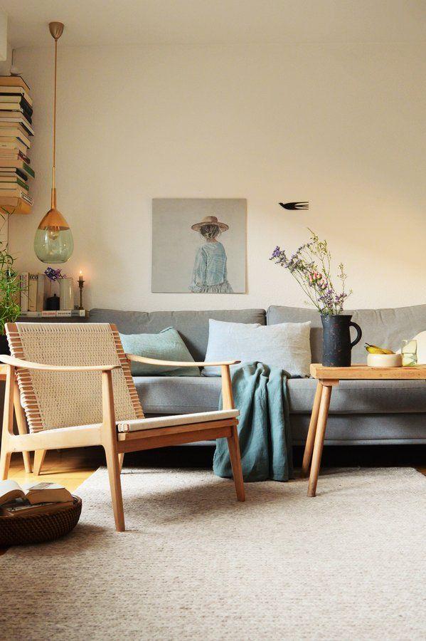 Hochwertig Wir Haben Unser 50 Er Jahre Sessel Renoviert.Das Gestell Einfach  Geschliffen Und Mit Baumwollseil Bespannt.