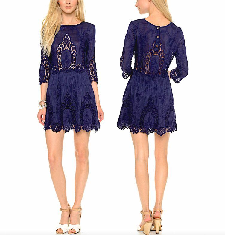 Dolce Vita Valentina Dress in Burgundy in Purple (Burgundy