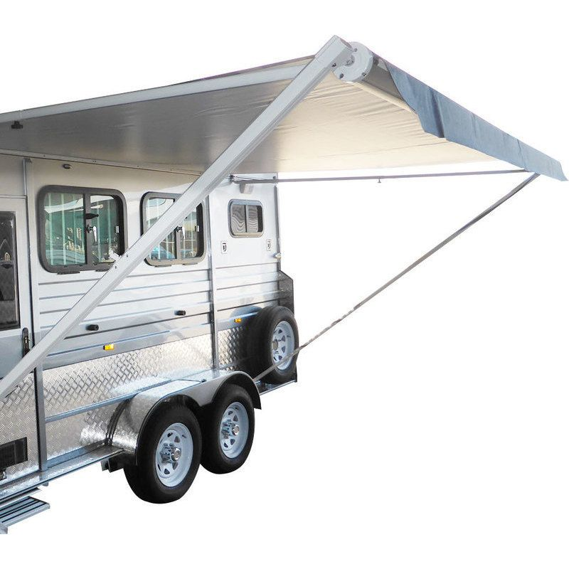 Roll Out Caravan Rv Window Awning In Grey 3 5x2 5m Caravan Awnings Window Awnings Caravan