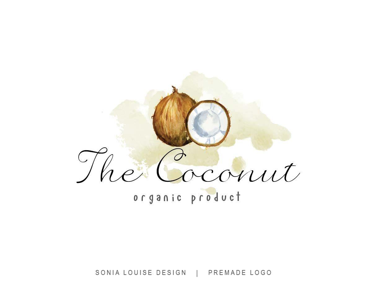 Coconut Logo Coconut Milk Logo Fruit Logo Health Food