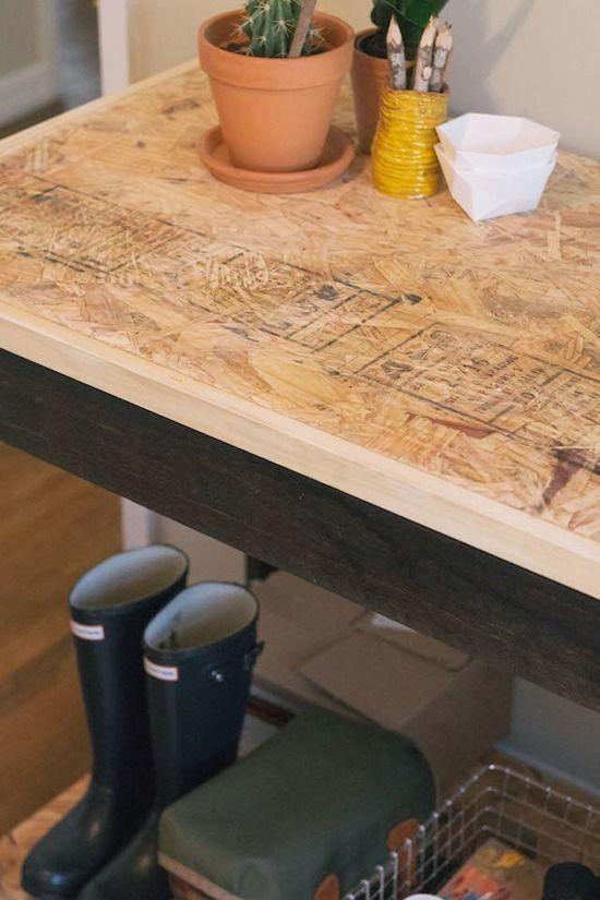 Make It A Work Desk Made From Plywood Work Desk Osb Furniture Diy Office Desk