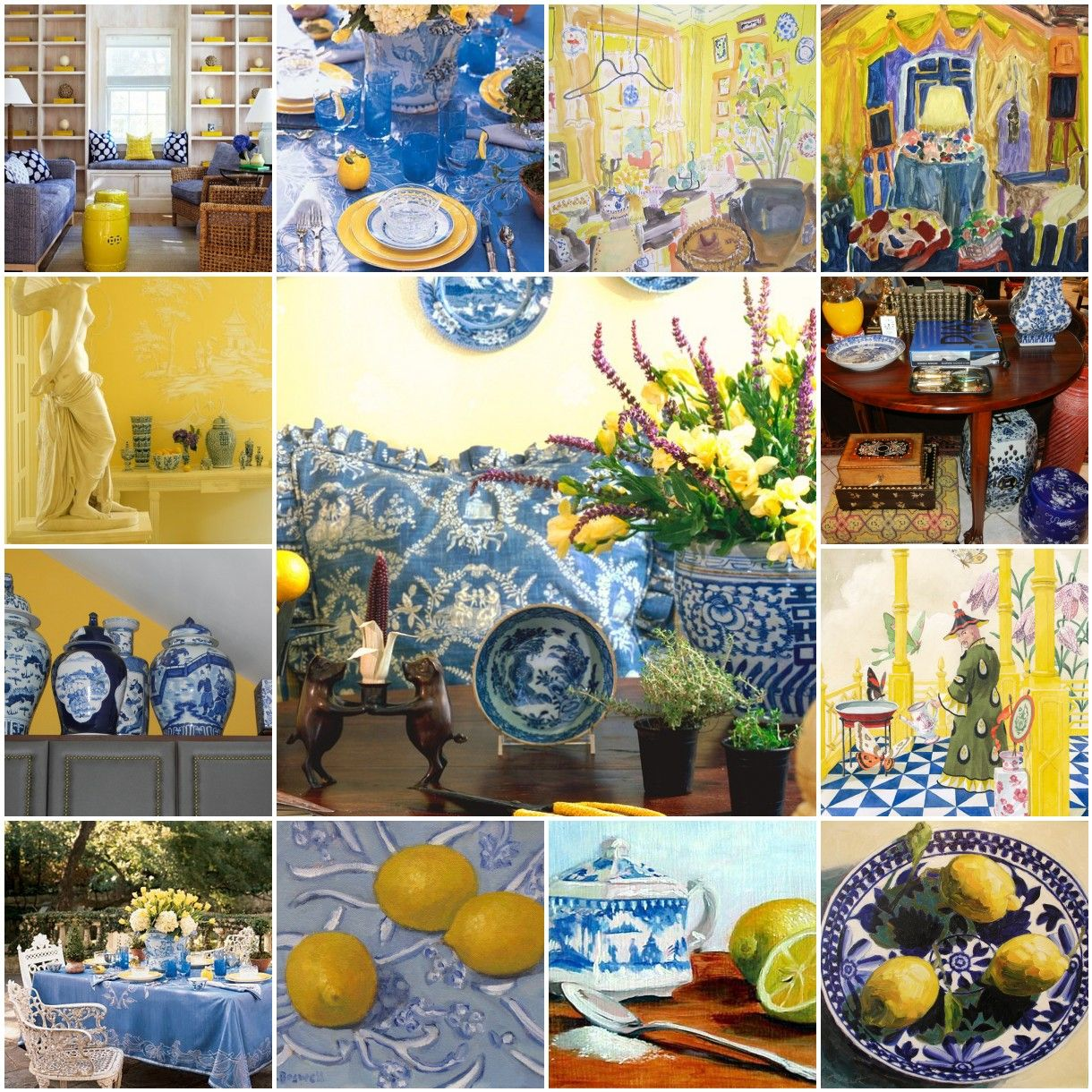 Pale Yellow Country Kitchen: The French Tangerine: ~ Blue And Yellow