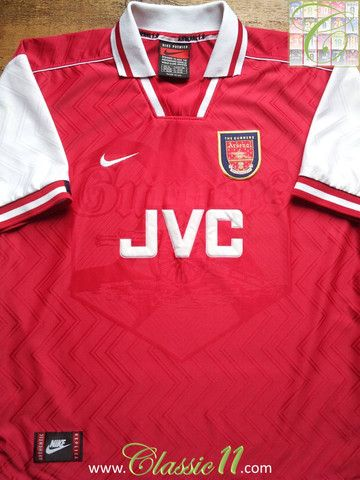 Relive Arsenal's 19961997 season with this vintage Nike