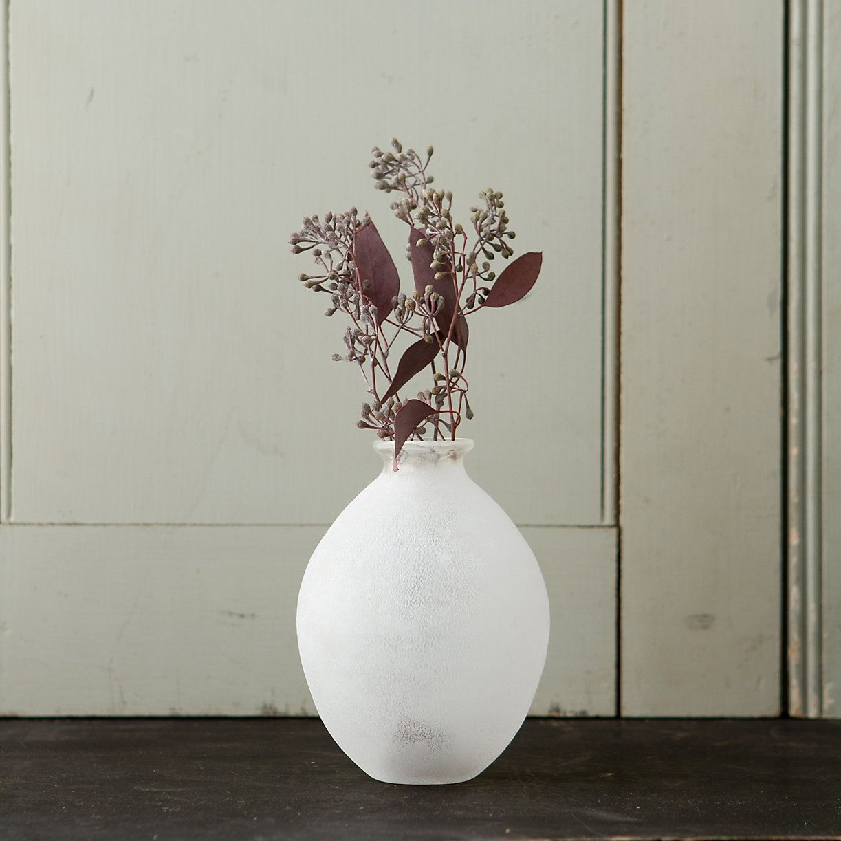 Terrain Frosted Glass Vase, Oblong #shopterrain