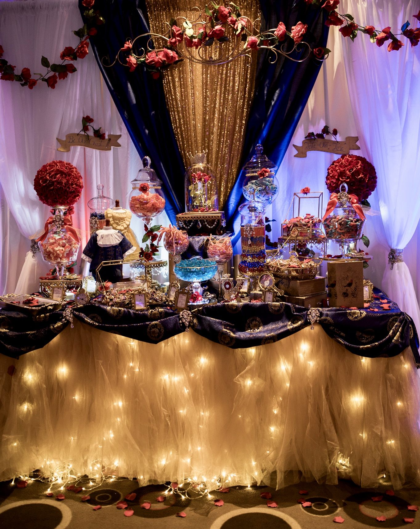 Beauty And The Beast Inspired Candy Table By Lechicboutique 1 Lechicboutique 1 Lechi Beauty And The Beast Theme Beauty And The Beast Party Beast Decorations