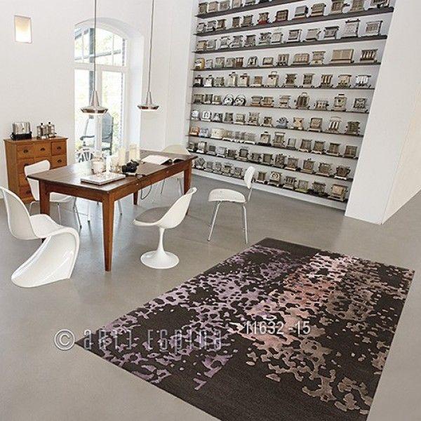 Tapis Laine Granada Marron Et Rose Arte Espina 120x180 Tapis Cosy