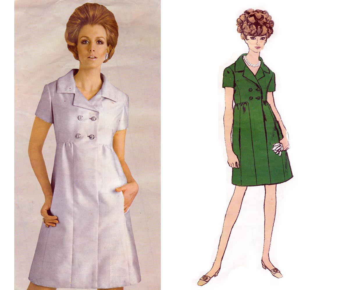 60s High Waist Coat Dress Teal Traina von allthepreciousthings, $32,00