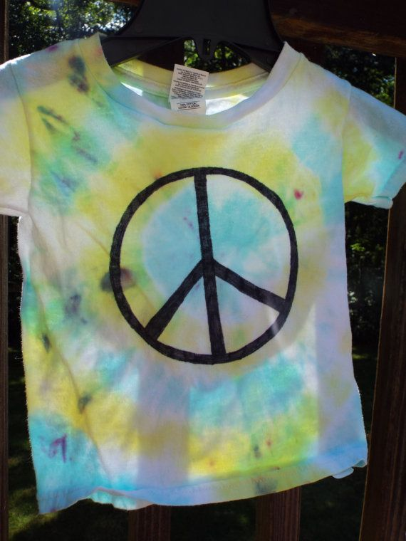 fdd3e960c256d Toddler peace sign tiedye for the littlest hippie boy or girl from Anything  on a Tie