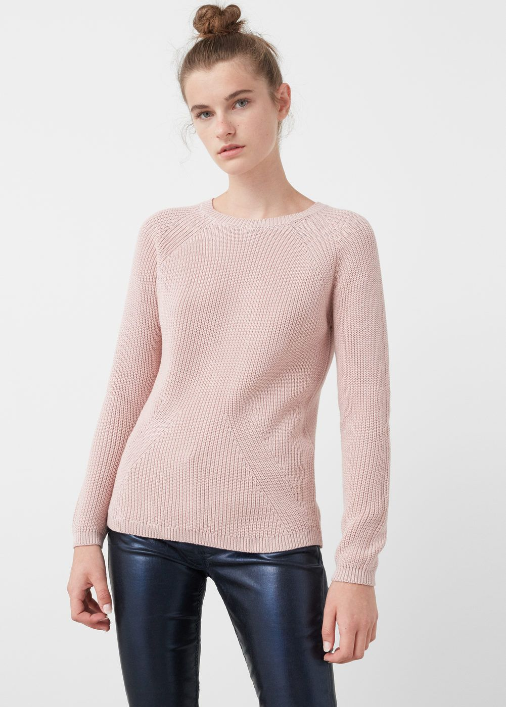 Ribbed cotton,blend sweater , Cardigans and sweaters for Woman