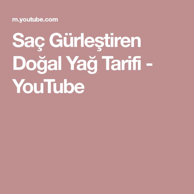 Sac Gurlestiren Dogal Yag Tarifi Youtube Sac Yag Dogal