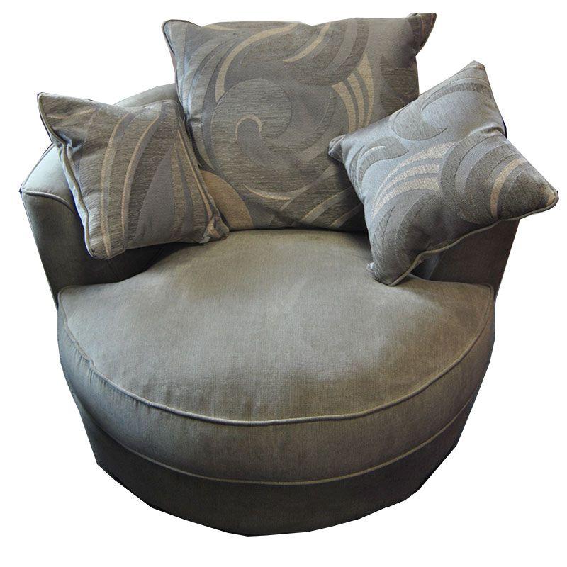 Ethel Grey Fabric Cuddle Chair; Bigmickey.ie Ireland's Cheapest, Quality Furniture