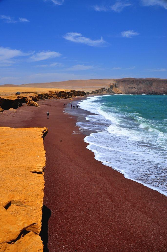 Red Beach In Paracas Peru By Aaron Oberlander