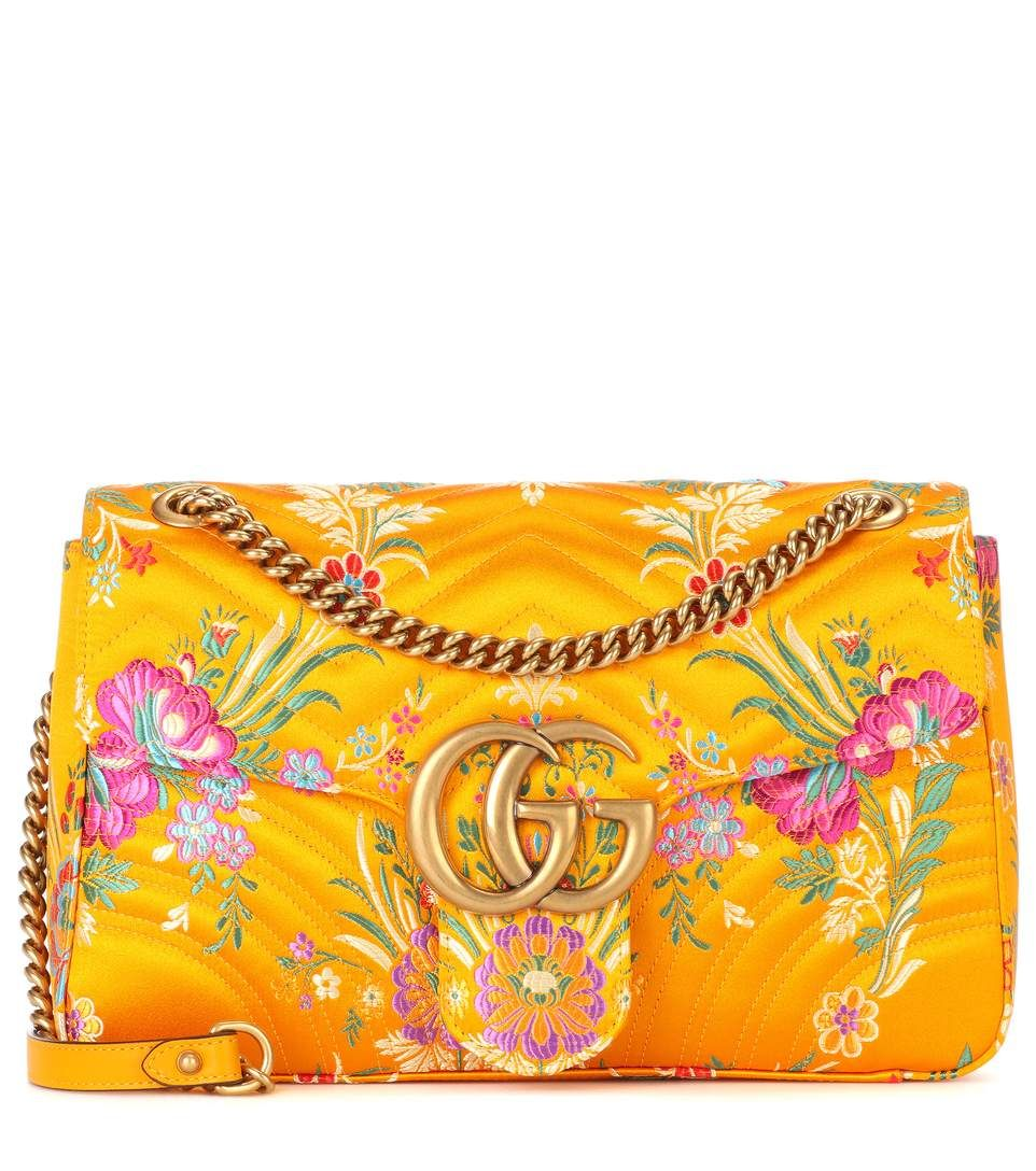 4f5168265 Gg Marmont · Mexico travelguide Gucci Floral Bag, Floral Bags, Quilted Shoulder  Bags, Orange Shoulder Bags
