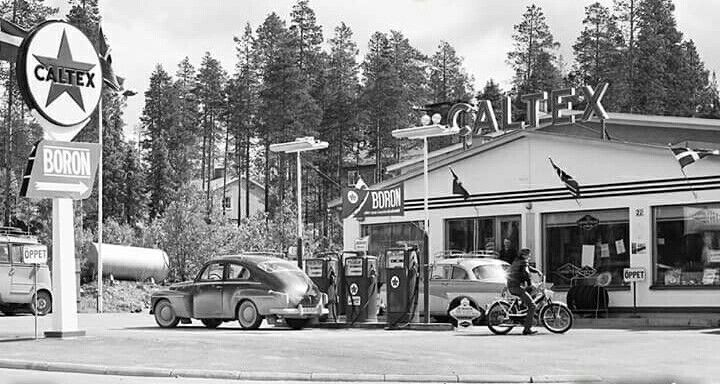 Caltex gas station, Sweden