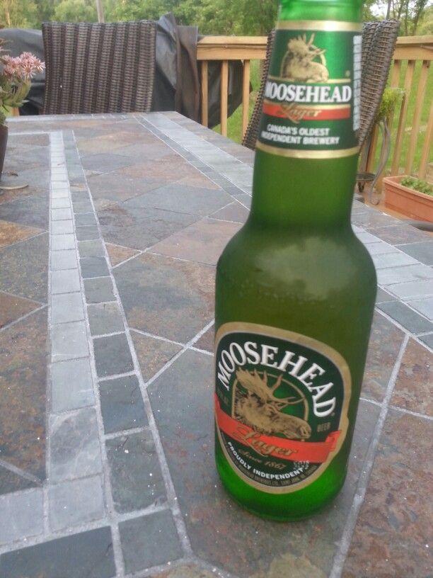 Cold beer. Moosehead