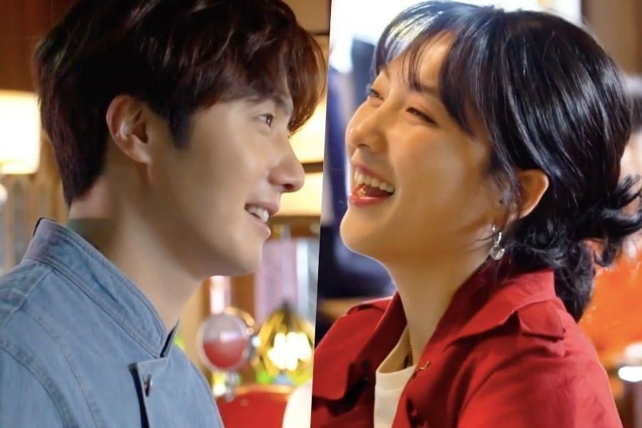 "Watch: Jung Il Woo + Former KARA Member Kang Ji Young Bicker Adorably Behind The Scenes Of ""Sweet Munchies"" Poster Shoot"
