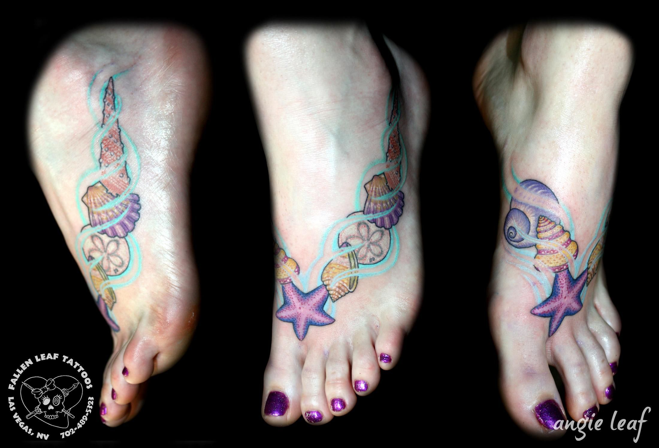 Traditional Seashell Tattoo