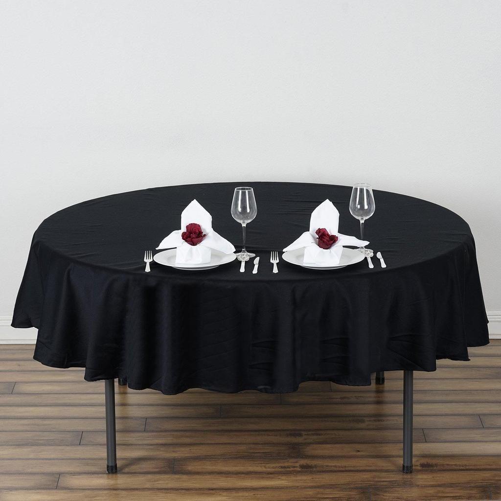 70 Black Round Chambury Casa 100 Cotton Tablecloth With Images Cotton Tablecloths Table Cloth Round Tablecloth