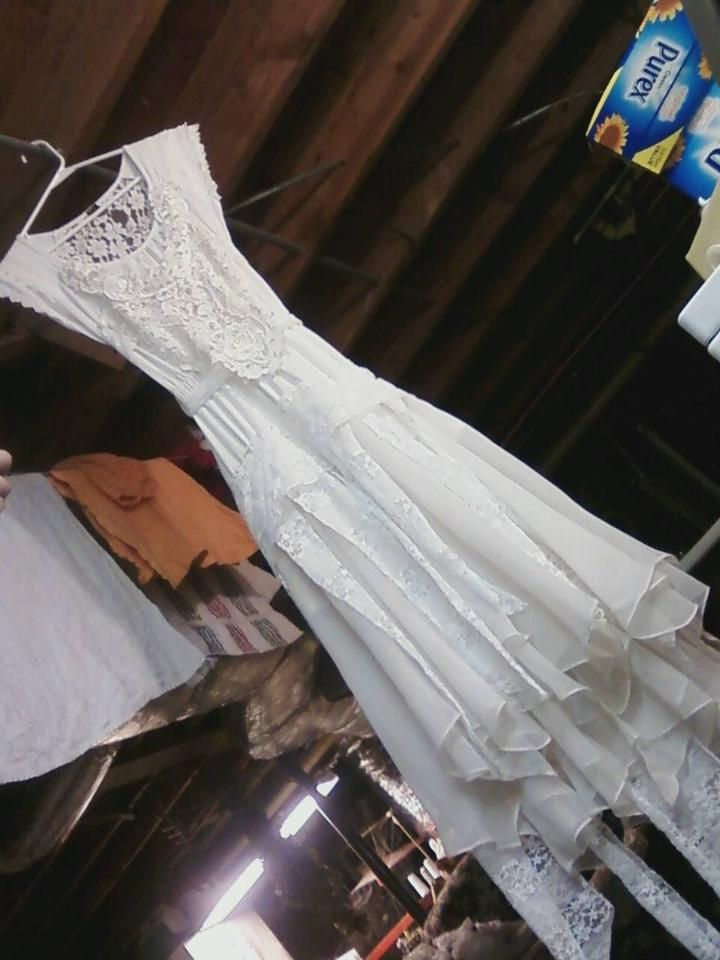 Awesome homemade wedding dress