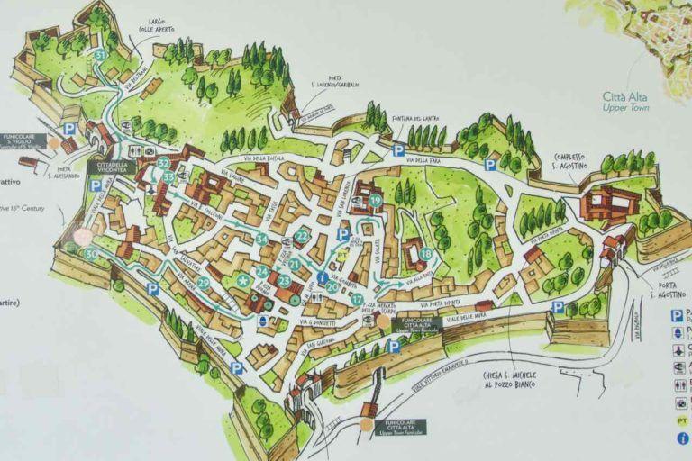 Bergamo Tipps Sehenswurdigkeiten Altstadt Karte C Peterstravel
