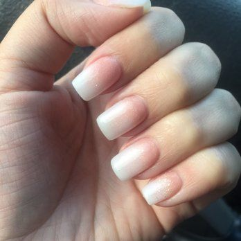 French Ombré with rose gold powder on my natural nails. I LOVED them ...