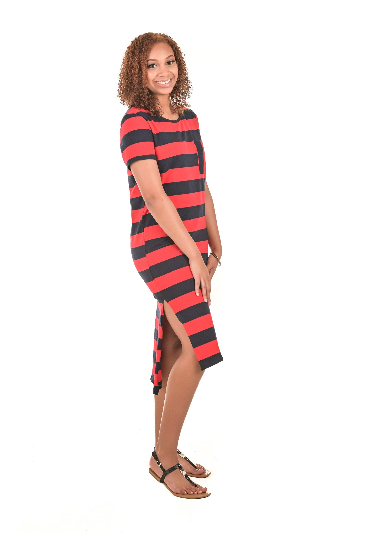 Sofia Short Sleeve Striped T Shirt Dress Medium In 2021 Striped Maxi Dresses Striped Maxi Striped T Shirt Dress [ 3000 x 1996 Pixel ]