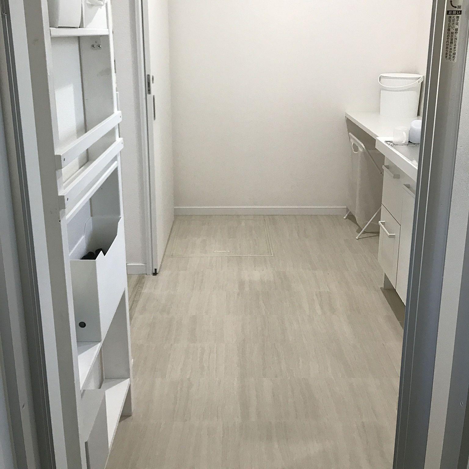 バス トイレ メラミンスポンジ 掃除 クッションフロアー ミニマル