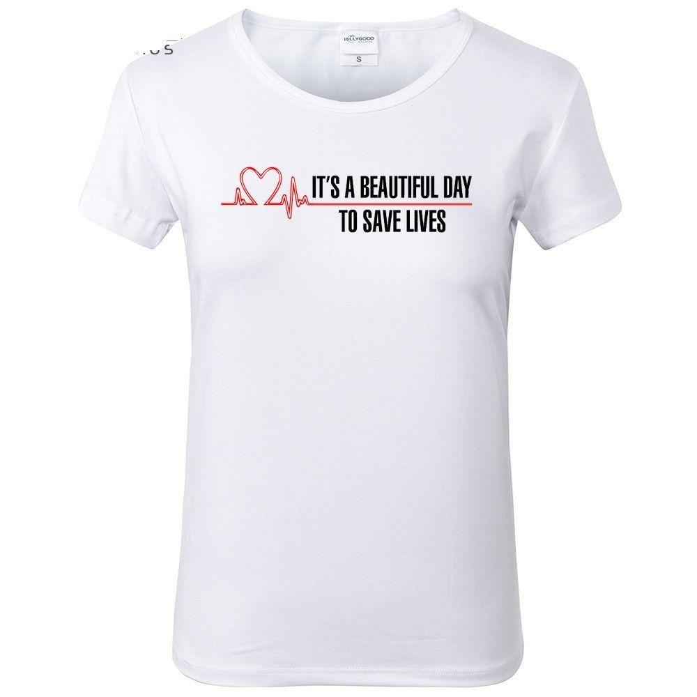 Superbe T Shirt Women Summer Cartoon Greys Anatomy College Wind Basic Tee Cute 2017  New #Unbranded