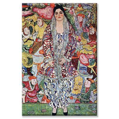 Gustav Klimt-Bildnis ria Munk Vintage Fine Art Print
