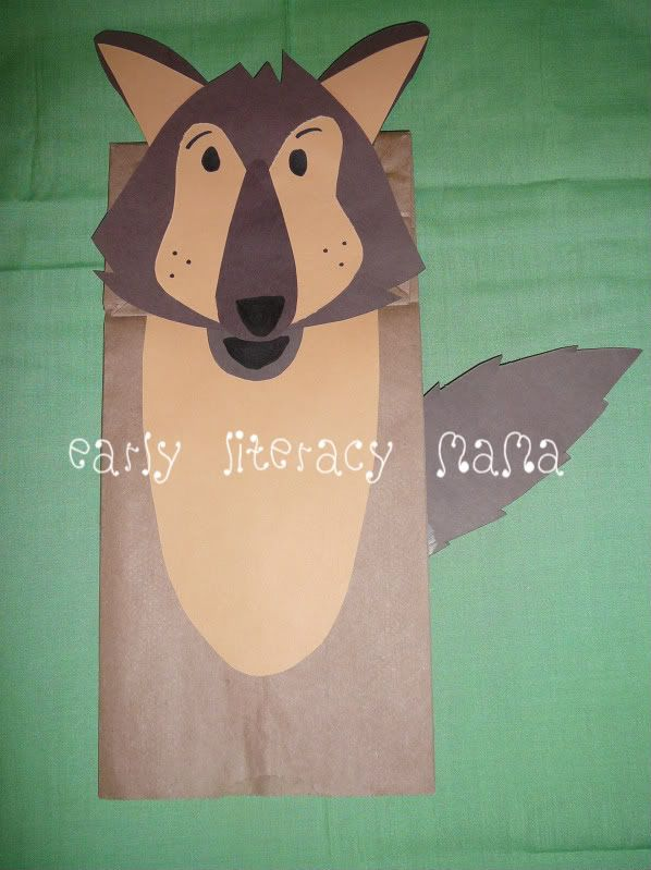 Pig and Wolf paper bag puppet templates | teatrillo | Pinterest ...