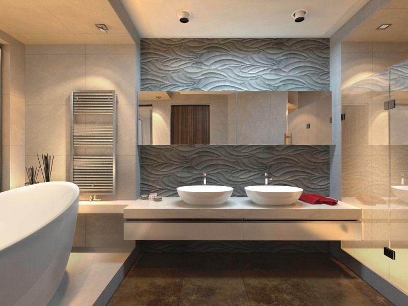 Revestimiento paredes 3d decoracion ba o pinterest for Revestimiento bano moderno