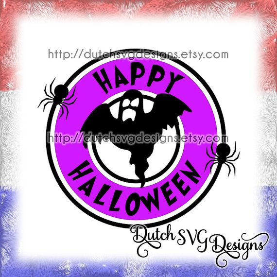 Halloween coffee mug logo cutting file, in Jpg Png SVG EPS DXF for Cricut & Silhouette, starbucks logo, ghost spooky boo spiders drink decal