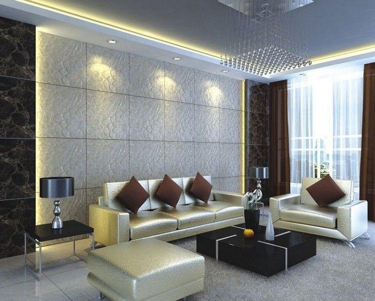 revestimiento de paredes interiores led moderno cojines - Revestimiento De Paredes Interiores