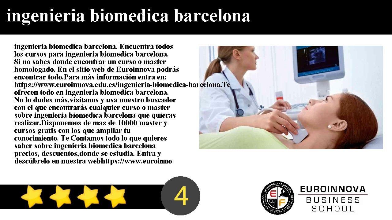 ingenieria biomedica barcelona - ingenieria biomedica barcelona. Encuentra todos los master para ingenieria biomedica barcelona. Si no sabes donde ver un curso o master para oposiciones. en la web de Euroinnova formación podrás encontrar todo.    Para más información entra en: https://www.euroinnova.edu.es/ingenieria-biomedica-barcelona.    Te ofrecen todo en ingenieria biomedica barcelona. No lo dudes másentra y usa nuestro buscador con el que encontrarás cualquier curso o master sobre…