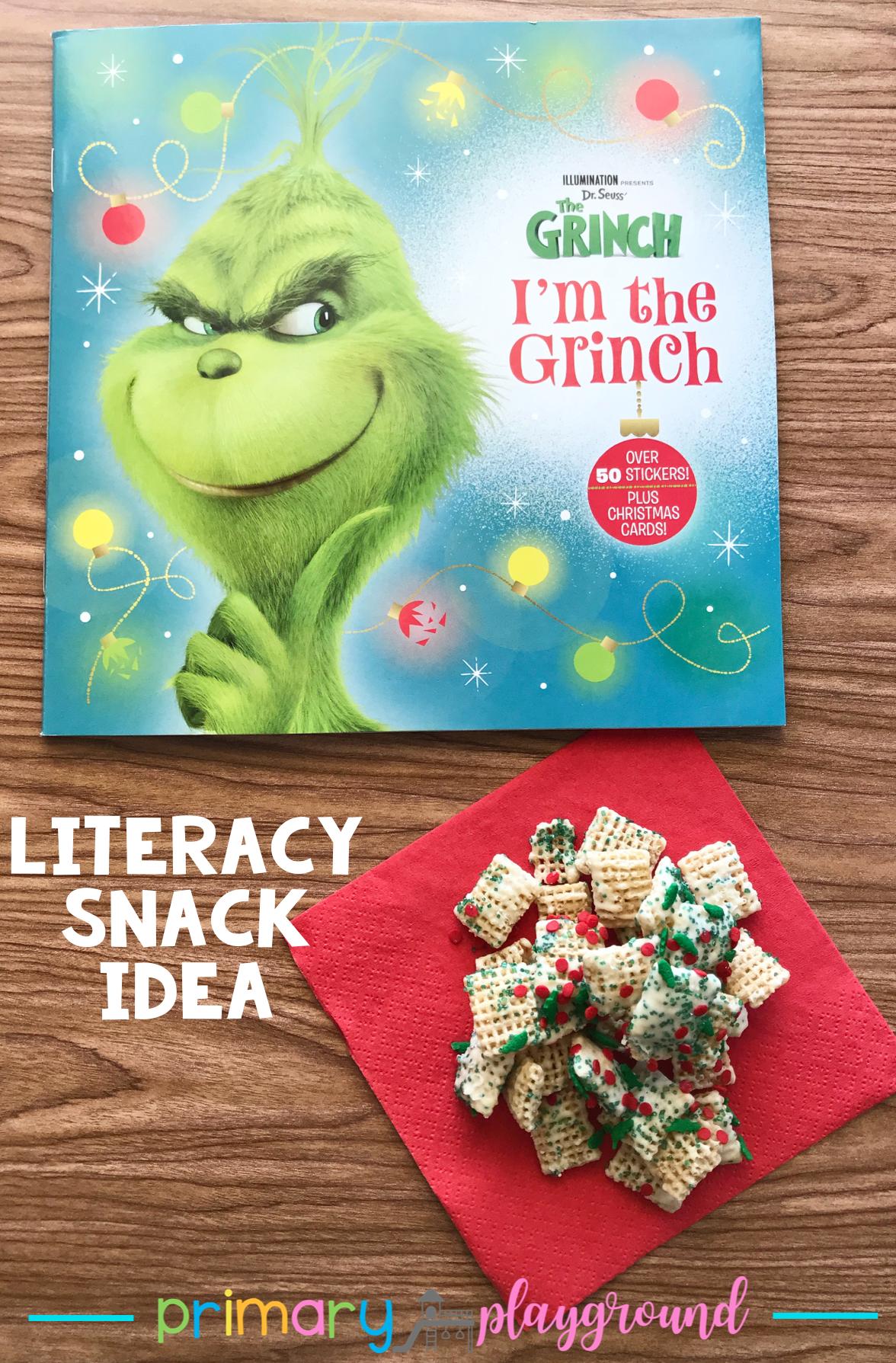 Literacy Snack Idea Grinch Free Printable