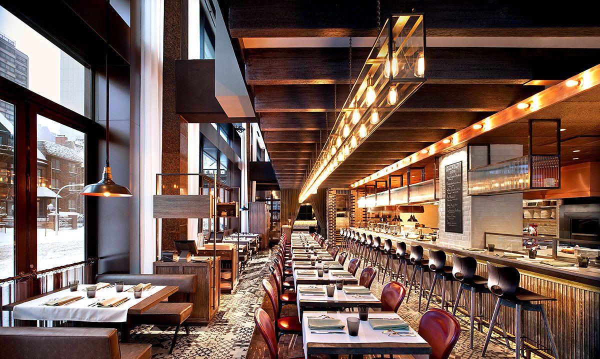Hotel Thompson Chicago Diseño de restaurante bar, Diseño