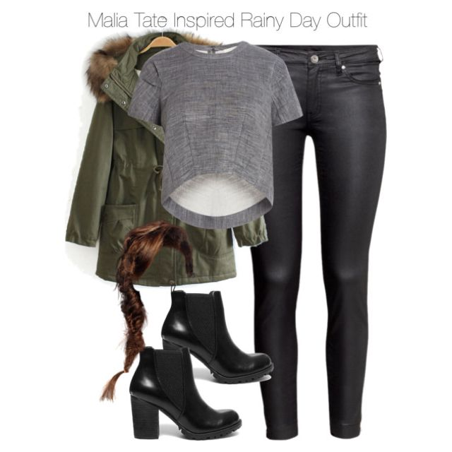 Malia Tate Inspired Rainy Day Outfit by staystronng