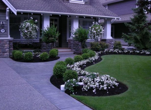 Exterior Elevated Front Yard Landscaping Easy Front Yard
