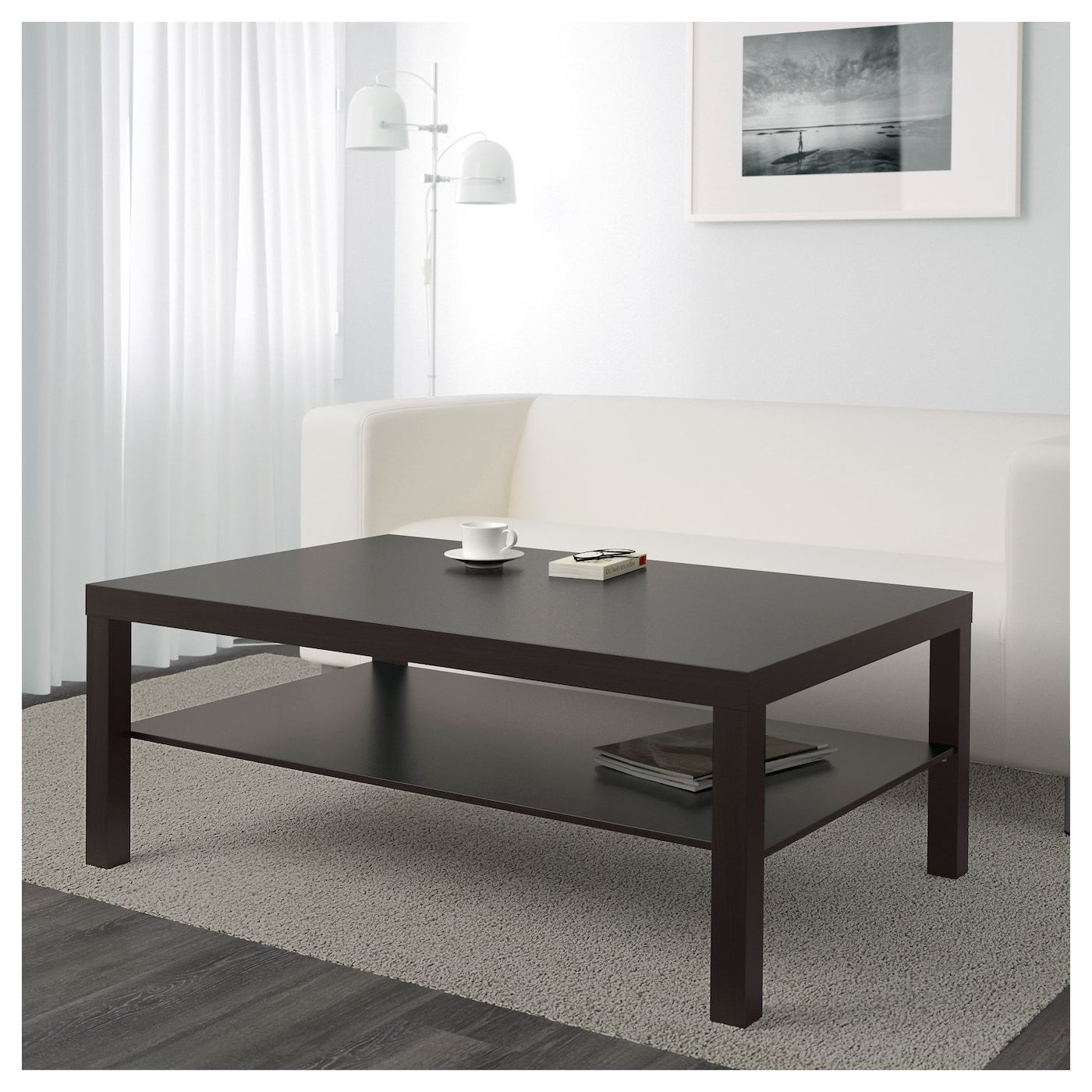 "LACK Coffee table blackbrown 46 1/2x30 3/4 "" (118x78 cm"